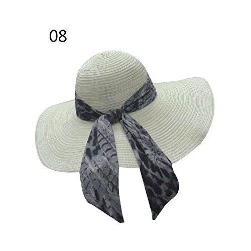qz Chapeau de Soleil Chapeau de dames Summer Seaside Sunbath Hood Capuche de plage pliable ( Couleur : #10 ) #08