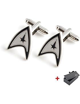 Star Trek Manschettenknöpfe Edelstahl INKLUSIVE edler Manschettenknopf-Box - deutscher Händler // MIND CARE ESSENTIALS...
