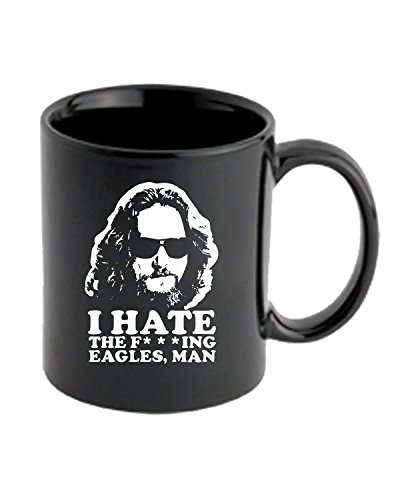 Cotton Island - Tazza 11oz FUN0760 Big Lebowski i hate the eagles cu 4 1, Taglia 11oz