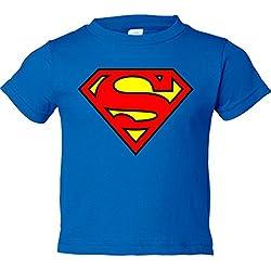 Camiseta niño Superman logo - Azul Royal, 9-11 años