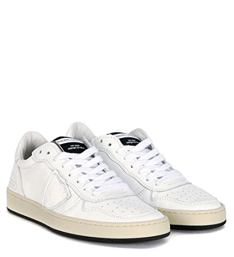 Sneaker Philippe Model Lakers in pelle bianca Bianco
