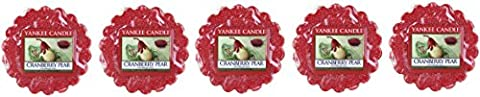 Yankee Candle Cranberry Pear Wax Tarts x5 - New for