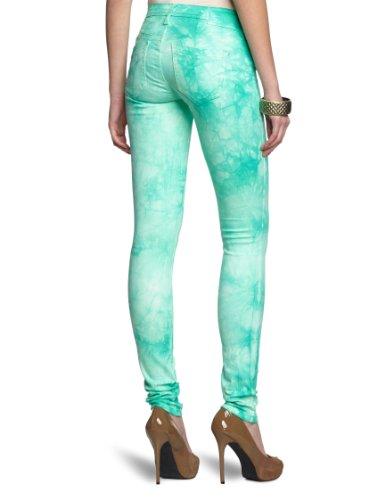 Gang Damen Jeans JEANIE jeg fab peppermint batik Loose / Relaxed Fit (weites Bein) Normaler Bund Grün (2426 peppermint batik)