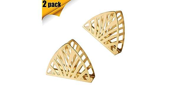 2pezzi Commerciale Creativo Freestanding Verticale Porta Tovaglioli Carta per Tavolo da Pranzo Adatto a Qualsiasi Decor Portatovaglioli Oro in Acciaio Inox Stile Moderno