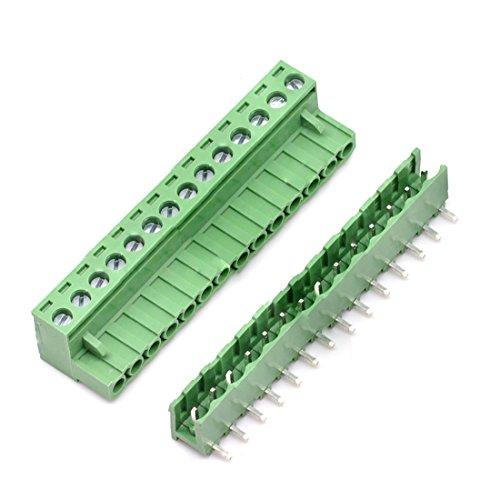 willwin 5,08mm Pitch Rechts Winkel 4pol PCB steckbar Terminal Block Anschlüsse 14P x 5 Set