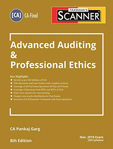 Scanner-Advanced Auditing & Professional Ethics (CA-Final)(Nov 2019 Exam-Old Syllabus)(8th Edition June 2019)
