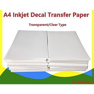 A4Inkjet Water Slide Aufkleber Papier 20Blatt transparent klar DIY für Inkjet Drucker