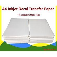 A4de inyección de tinta de agua Slide para papel 20hojas transparente DIY para impresoras de inyección de tinta