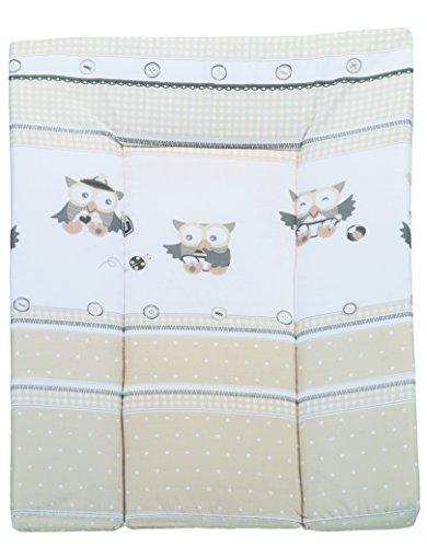 roba Keilwickelauflage 'Eulenbabys', Baby Wickelauflage 73x52cm, Wickelmulde keilförmig aus phtalatfreier Folie