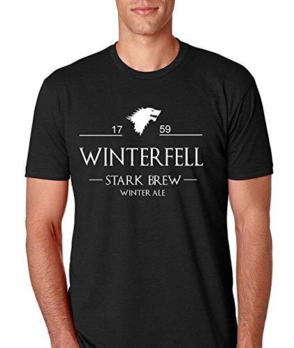 Game of Thrones Winterfell Stark Brew Herren T-Shirt, L -