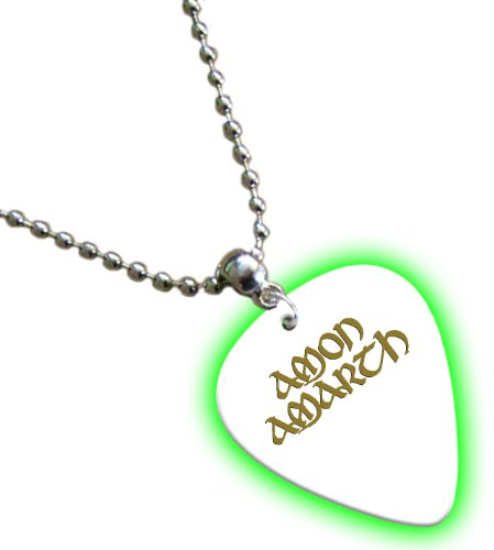 Amon Amarth Hot Foil on White Glow Pick Collana con plettro
