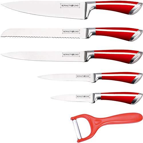 Set de 6 couteaux en acier inoxydable Couteau de chef Éplucheur GRILL Camping
