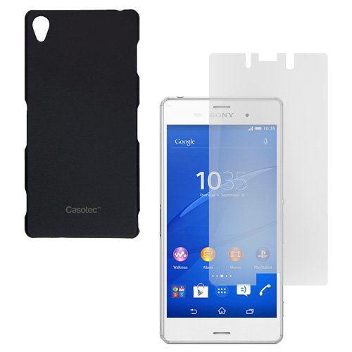 Casotec Ultra Slim Hard Shell Back Case Cover for Sony Xperia Z3 - Black  available at amazon for Rs.99