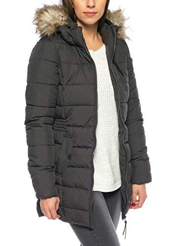 ONLY Damen Mantel onlNORTH Nylon Coat CC OTW, Schwarz (Black Detail:Melange), 38 (Herstellergröße: M)