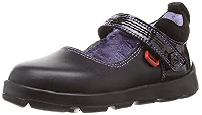 Kickers Girls Jiri Bar Mary Jane Flats 112864 Black Patent 12 UK Child, 30 EU