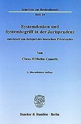 Systemdenken und Systembegriff in der Jurisprudenz: Entwickelt am Beispiel des deutschen Privatrechts (Schriften zur Rechtstheorie)