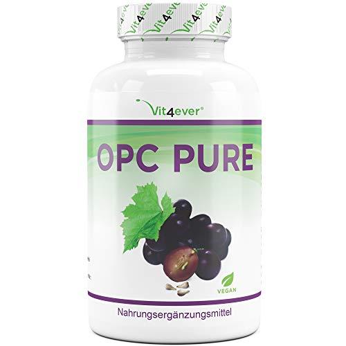 Vit4ever® OPC Traubenkernextrakt - 300 Kapseln - 900 mg reines Extrakt je Tagesdosis - Premium OPC aus französischen Weintrauben - Laborgeprüfter OPC Gehalt - Vegan - Hochdosiert