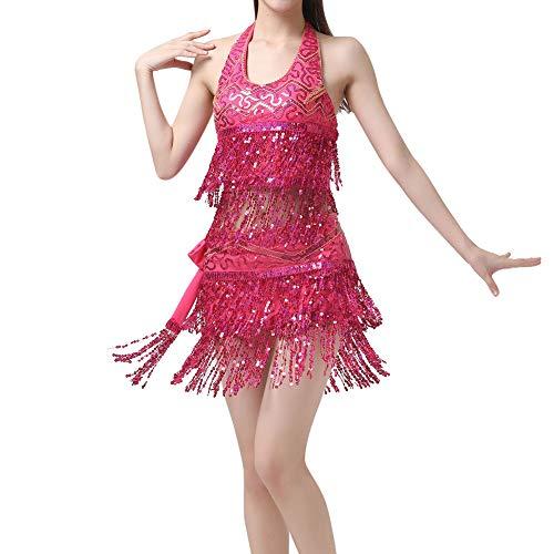 Gyratedream Bauchtanz Kostüm Damen Pailletten BH Oberteil + Bauchtanz Hüfttuch (Kostüm Im Tango Tanz)