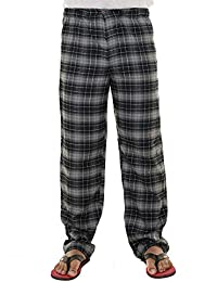 Twist Men's Multicolor Checked Cotton Pyjama Night Wear With Contrast & Free Shipping