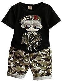 791d7a49706cf Gyratedream Ensemble de Vêtements Été Bébé Garçon T-Shirt Tops À Manches  Courtes + Pantalon