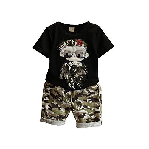 Gyratedream Baby Sommer Kleidung Junge T-Shirt Kurzarm Tops + Kurze Hosen Camouflage Shorts 2Pcs Outfits für 2-7 Jahre Kinder