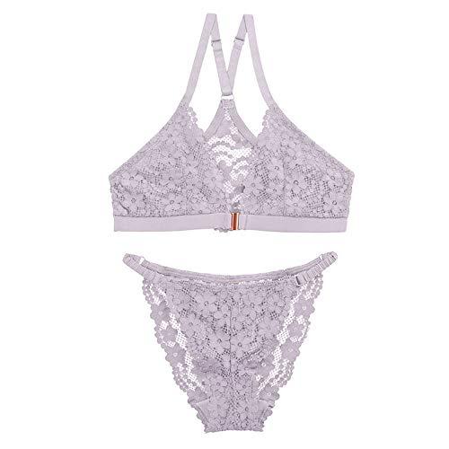 Yyzhx BH, Beauty-Rücken, Unterwäsche, Spitze, kein Stahlring, vordere Schnalle, BH, Anzug -