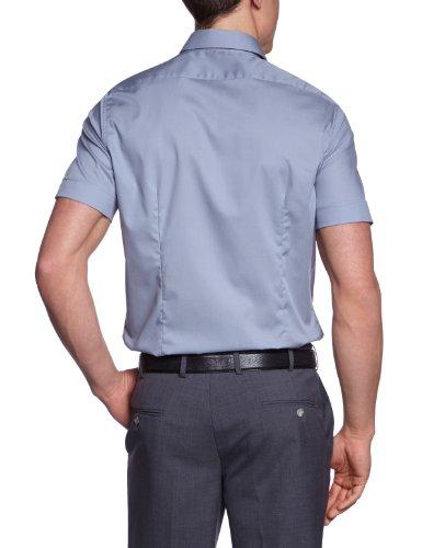 Schwarze Rose - Camicia Classico, Uomo Grigio (Grau (35 grau))