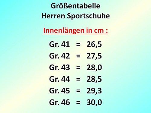 gibra , Chaussures pour homme spécial sports en salle Schwarz/Weiß