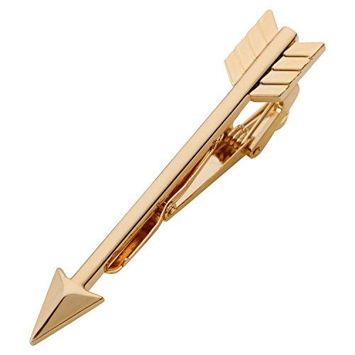 Tripin Best Seller Arrow Shape Golden Tie Pin In A Gift Box