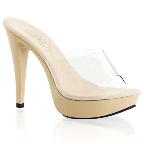 Fabulicious Cocktail-501, Sandales Bout Ouvert Femme Multicolore - Clear/Cream