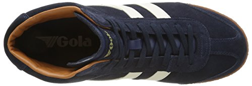Gola Harrier High Suede, Baskets Basses Homme Bleu - Blau (Navy/Ecru)