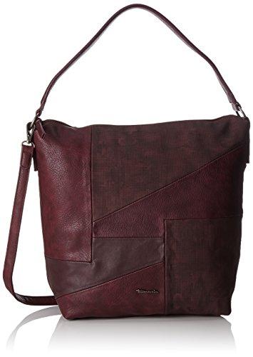 Tamaris Damen Bimba Hobo Bag Schultertasche, Rot (Vino Comb), 14x40x30 cm (Patchwork Hobo Handtasche)