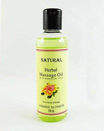 Huile de massage Jasmine Blossom Natural Herbal Avec huile essentielle pour 100 ml Full Body