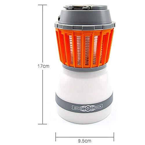 CUYE Camping-Zelt-Licht-Moskito-Mörder-Lampe, Regenschutz und USB aufladbare Bug Zapper-Lampe für Indoor und Outdoor Notfall-orange (Für Notfall-zelte Camping)