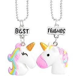 Toyvian BFF Best Friends Collares Collar de Unicornio Collares de Amistad para 2 Niñas