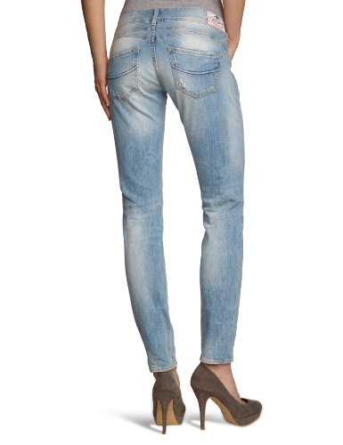 Herrlicher - Jean - Skinny/Slim Fit - Femme Bleu (Milky 013)