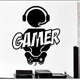 Koyiyo 57X75 Cm Wandaufkleber Jungen Gaming Gamer Freude Aufkleber Video Computer Spiel Vinyl Aufkleber Kinderzimmer Dekoration