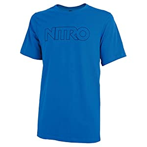 Nitro Snowboards Tonal Outline T Shirt, Herren, Blau, L