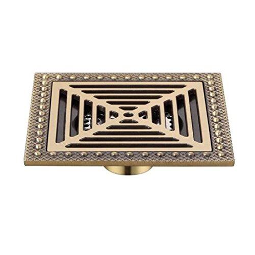 SJQKA drain de plancher Cuivre 15 X 15 Cm Carrés Drains De Plancher La Fermeture Automatique Du Déodorant