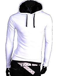 Herren Hoodie Kapuzenpullover 100% Baumwolle Pullover Herren Pulli Hoodie sweatshirt
