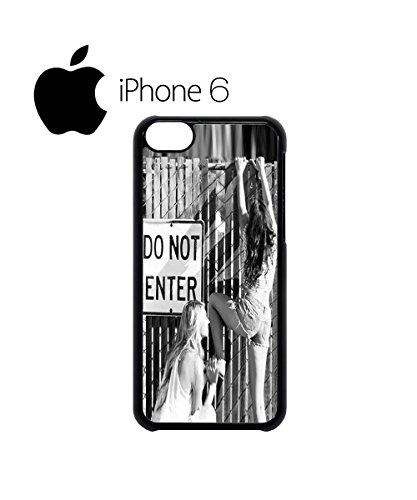 Do Not Enter Sexy Girls Swag Mobile Phone Case Back Cover for iPhone 6 Black Blanc