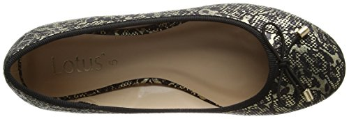 Lotus Buttera, Ballerine Donna Black (black/gold)