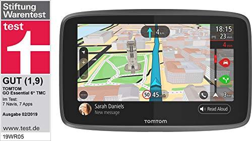 TomTom GO Essential Pkw-Navi (6 Zoll, mit Freisprechen, Updates über Wi-Fi, Lebenslang Traffic via Smartphone und Karten von Europa, Smartphone-Benachrichtigungen, kapazitivem Display, TMC)