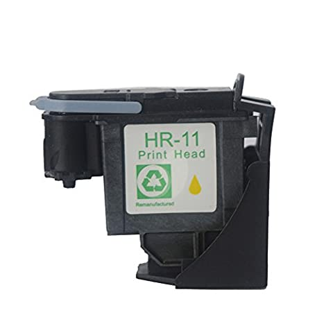 Caidi 1x Yellow HP11 remanufactured print head for HP 11 C4810A C4811A C4812A C4813A Printhead for use with HP Business Inkjet 2200, 2250, 2280, 2600, 2800 HP Designjet 110nr, Designjet 10ps, 20ps, 50ps, 500 800