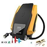 Micowin Compressore Aria Portatile 150 PSI Gonfiatore con Manometro 12V DC Compressore d'Aria per Pneumatici Pompa Elettrica con Luce di Emergenza