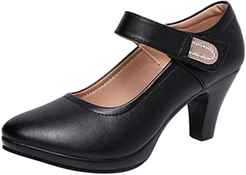 YAN Scarpe da da da Donna Moda con Un Bottone Fibbia Nero Chunky Heel Cheongsam Passerella Scarpe Scarpe da Donna Scarpe...   attività di esportazione in linea  44aed3