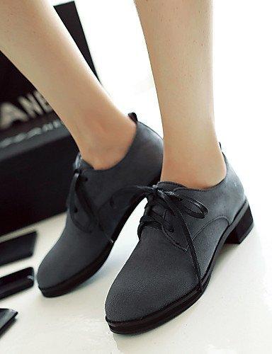 ShangYi Scarpe Donna - Scarpe col tacco - Ufficio e lavoro / Formale / Casual - Plateau / Punta arrotondata / Chiusa - Quadrato - Finta pelle - Blue