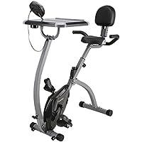 Finether F-Bike Heimtrainer Fahrradtrainer Hometrainer Fitnessbike Cardio-Bike X Bike Standfahrrad Trimmrad Trainingsrad mit Tablethalterung LCD Display Pulsmessung Speedbike, höhenverstellbar klappbar preisvergleich bei fajdalomcsillapitas.eu