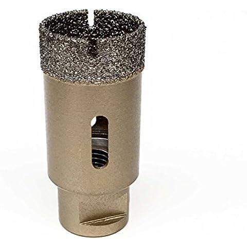 ChilliCut ChilliDRILL - Sierra de corona (adiamantada, diámetro de 35mm, para amoladora angular M14, para baldosas, gres, granito, hormigón, piedra natural)