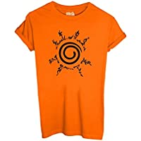 T-Shirt SIGILLO KYUBI NARUTO - CARTOON by iMage Dress Your Style - Bambino-XL-ARANCIONE - America Del Sigillo